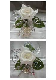 Wrist Corsage Supplies Teal And Silver Corsage Unbelievably Cute D Pinterest Prom