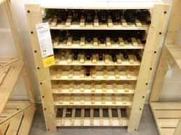 cellar rack wine cabinet ikea ensures the right temperature for