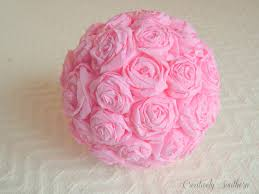 crepe paper flowers craft idea