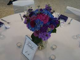 Purple And Blue Flowers Centerpieces Thank You Flowers Birthday Flowers Birthday Roses