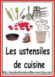 projet cuisine p馘agogique lexique ustensiles jpg ustensile de cuisine