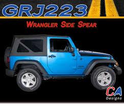 jeep wrangler graphics 2007 2015 jeep wrangler side spear vinyl graphic stripe package