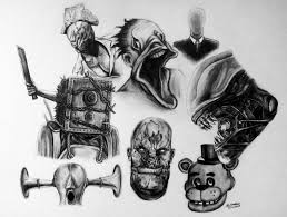 halloween drawing 2014 horror game characters by lethalchris on