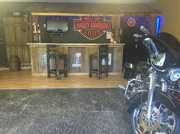 Harley Davidson Home Decor by Garage Bar Man Cave Basement Bars Rustic Bar Harley Davidson