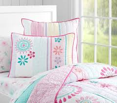 girls bedroom bedding maya dandelion quilt pottery barn kids