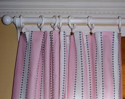 Pink Striped Curtains Light Pink Curtain Etsy