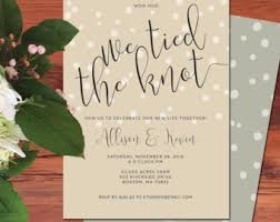 elopement invitations wedding reception invitation we the knot elopement