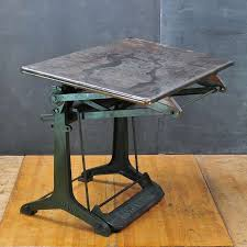 Drafting Table Washington Dc 1930 U0027s Industrial Drafting Table German Factory Cast Iron Steel