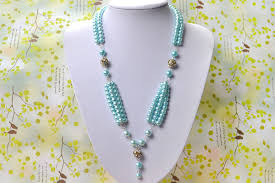 pearl bead necklace diy images Pearl jewelry designs how to make a beaded long fashion necklace jpg