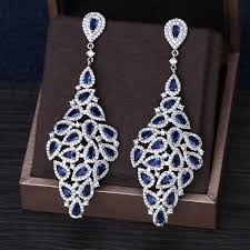 aliexpress buy new arrival white gold color aaa new arrival top quality aaa cube zircon blue bridal earrings white