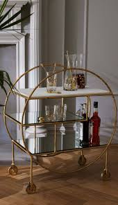 best 20 tea trolley ideas on pinterest tea cart gold bar cart a luxe round bamboo drink trolley provides function and beauty