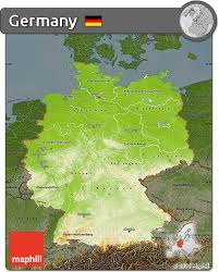 geographical map of germany free physical map of germany darken