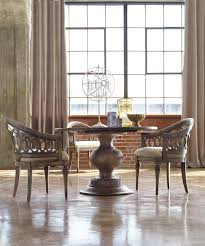 dining rustic wood round pedestal dining table with varied round