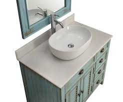 inch bathroom vanity coastal beach style white vessel sink teal