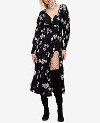 free people floral print faux wrap dress juniors dresses macy u0027s