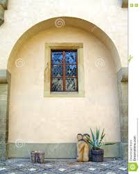 spanish style courtyard stock photo image 76372001