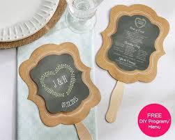 rustic wedding fan programs kraft fan personalization available set of 12 wedding