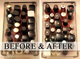 organizing with style color coded nail polish drawer blue i style