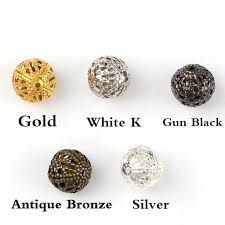 Toggle Clasps For Jewelry Making - online shop 10mm vintage iron flower lace hollow ball beads metal