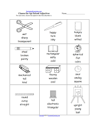 pick the apt adjective worksheets to print enchantedlearning com