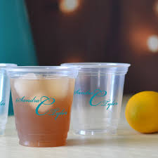 clear plastic cups for wedding cups 12 oz personalized my wedding reception ideas