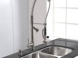 hi rise kitchen faucet kohler stainless steel sensor faucets