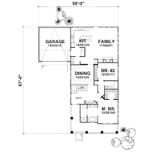Bungalow Style Floor Plans Bungalow Style House Plan 2 Beds 2 5 Baths 1745 Sq Ft Plan 50