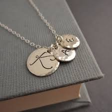 initials necklace mothers necklace childrens initials three 3 initial
