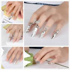 womens jewelry fingernails ring sterling silver nail art charms