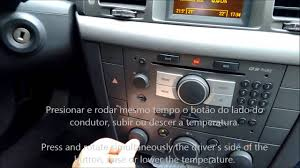 opel vauxhall vectra air conditioning control youtube