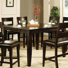 espresso dining room set buy counter height dining table in espresso finish