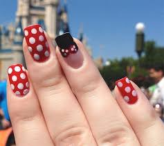 minnie mouse nails disney nail inspiration