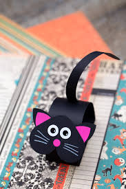 Black Cat Halloween Crafts How To Make A Paper Bobble Head Black Cat