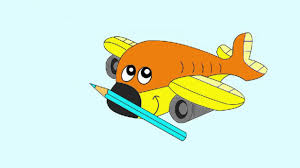 coloring books children airplane aeroplane kids cartoons