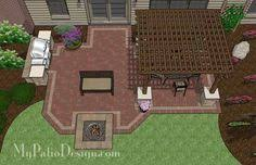 Large Paver Patio Design With Grill Station Bar Plan No by Backyard Patio Layouts Patio For Backyard Entertaining Patio