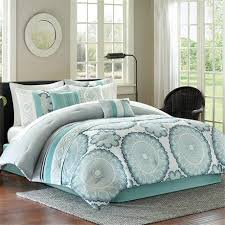 White And Teal Comforter Light Blue And White Comforters And Bedding Sets