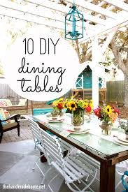 How To Build A Dining Room Table Plans by 10 Diy Dining Table Ideas Build Your Own Table