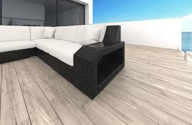 Outdoor Laminate Flooring Wicker Patio Sofa Houston L With Led