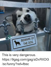 Meme Gag - beware of the dog this is very dangerous
