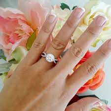 simulated engagement ring sale halo engagement ring ring wedding