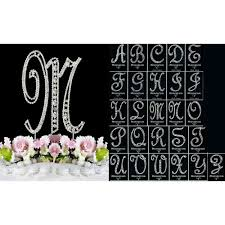 z cake toppers buy large silver covered vintage style monogram cake