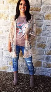 graphic t lace crochet kimono native american and western chic