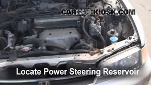 92 honda accord engine follow these steps to add power steering fluid to a honda accord