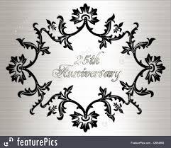 Silver Anniversary Invitation Cards 25th Anniversary Invitation Card Illustration