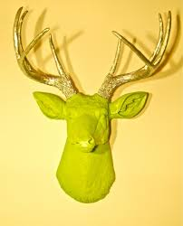 Fake Deer Head Wall Mount Decorating Ideas Interactive Wall And Mantel Decoration With
