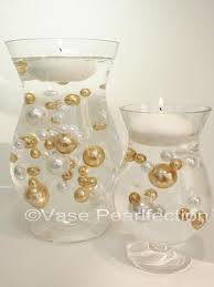 Glass Vase Filler 80 Gold U0026 White Pearls Accents Vase Fillers For Events