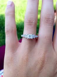 princess cut engagement rings zales princess cut past present future engagement ring zales three