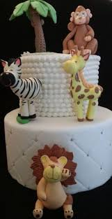 cute baby animals jungle animals cake toppers jungle party