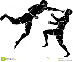 lime silhouette super punch mixed martial arts stock illustration image 47724102