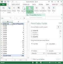 Change Pivot Table Data Range Ms Excel 2013 How To Change Data Source For A Pivot Table